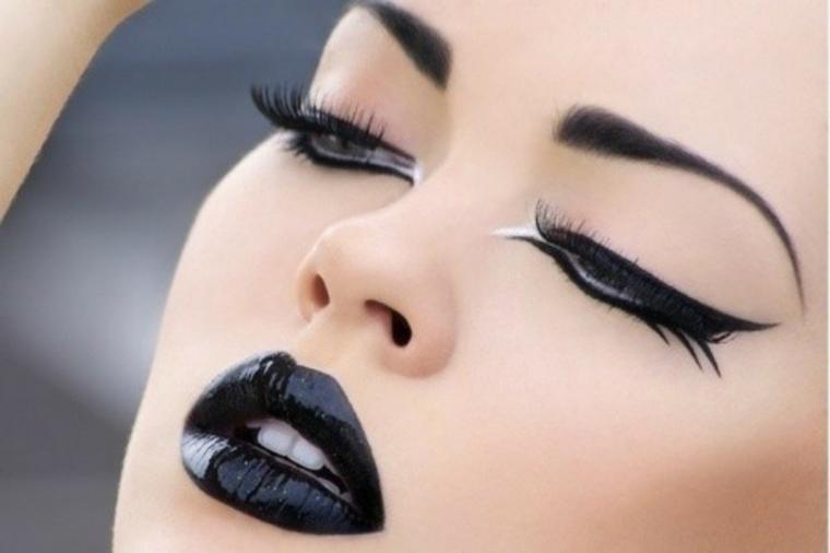 astuces pour le maquillage-lèvres-noir