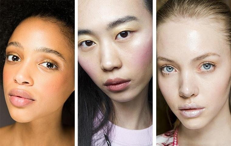 maquillage parfait-blush-couleur-rose-pêche-tendances-2018