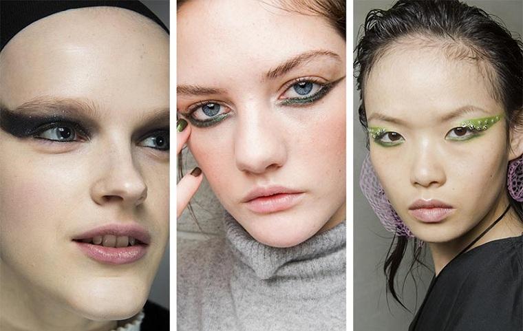 eye-liner-yeux-exagéré-coloré-options-automne