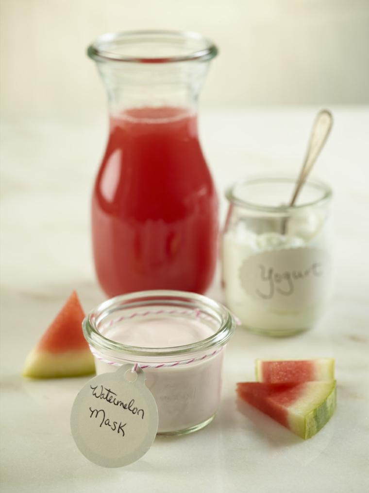 masques maison pour rides-yaourt-melon deau