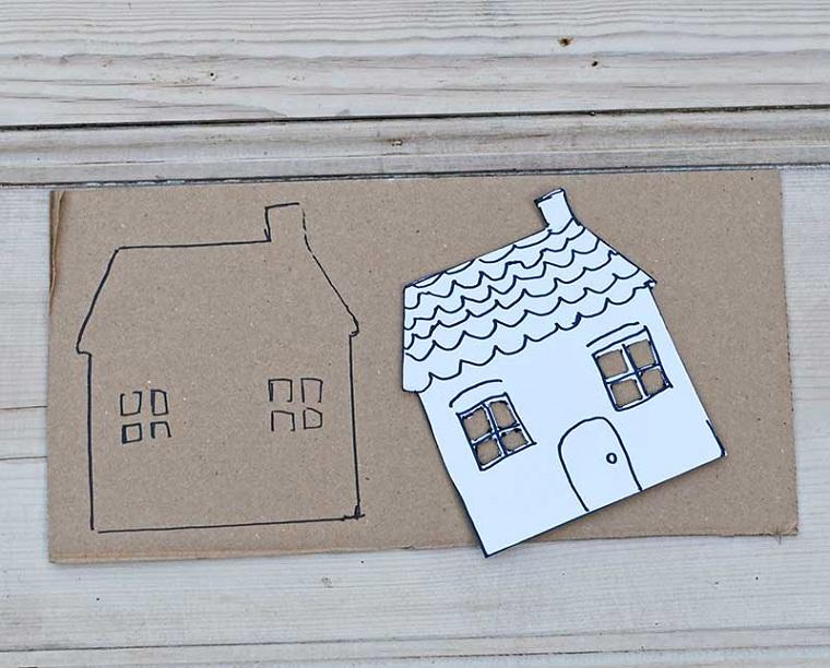 artisanat-pour-Noël-facile-à-faire-boîtes-maisons