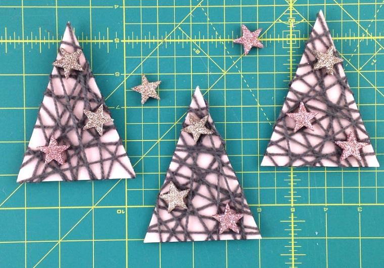 Artisanat de Noël facile à faire-décoration-arbres