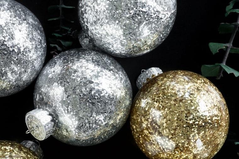 manualidades-opciones-bolas-doré-argent