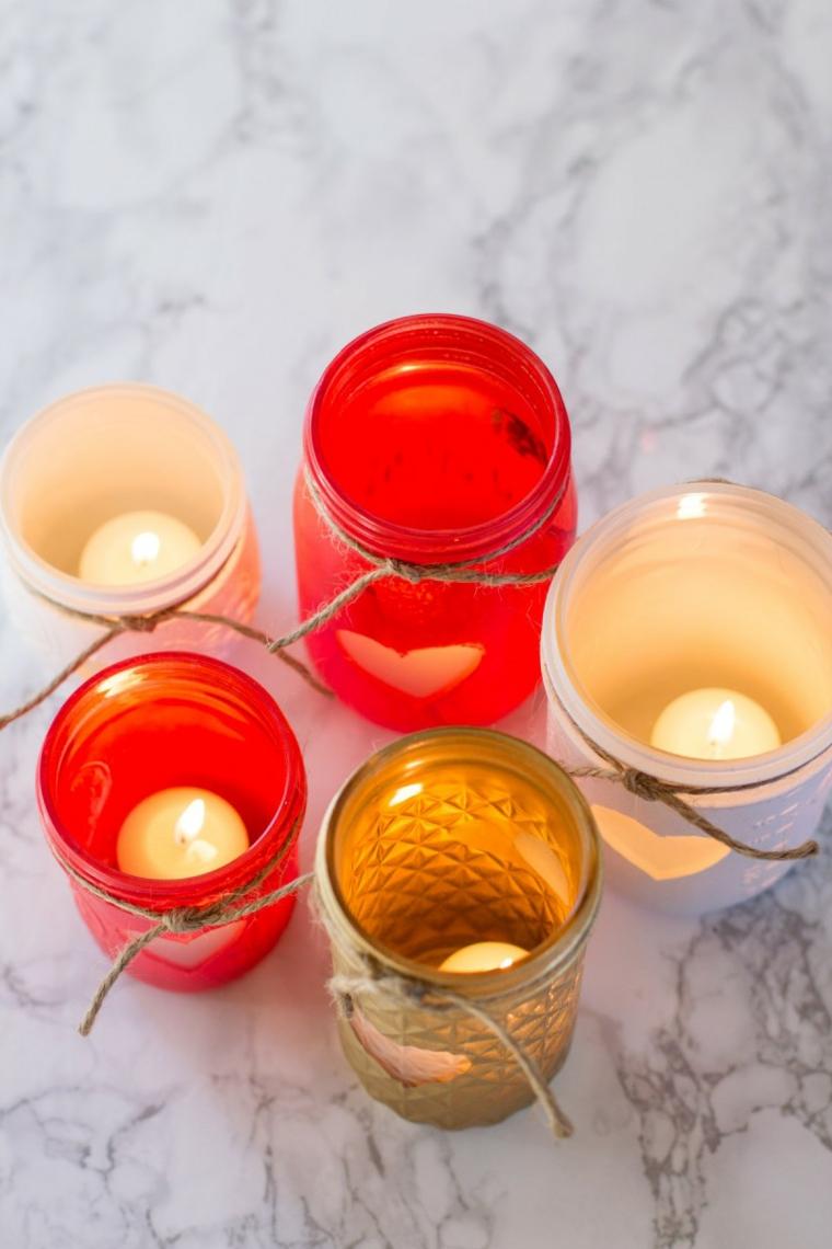 Décorations de Noël-décorer-bougies