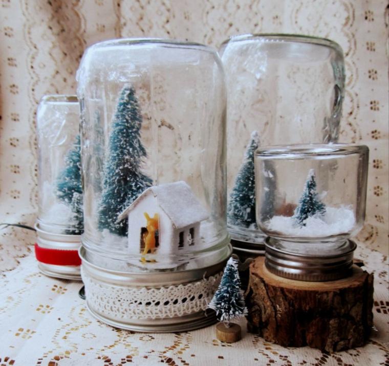 pots de décoration de noël