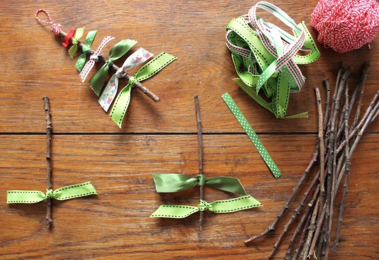 artisanat pour faire maison-bâton-tissu