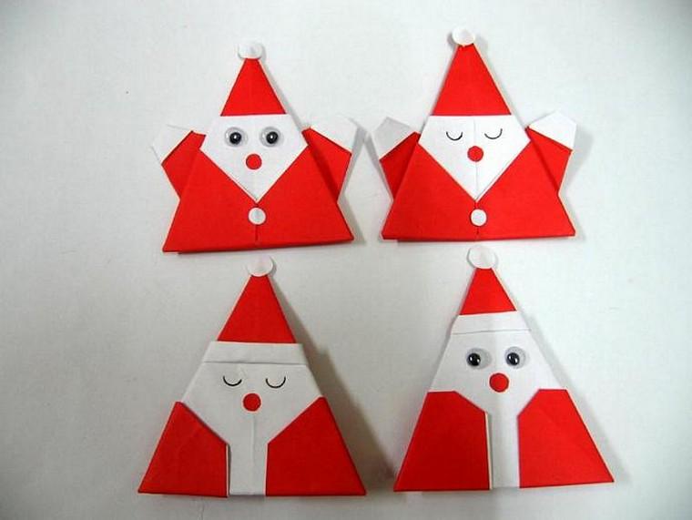 origami petit père décoré