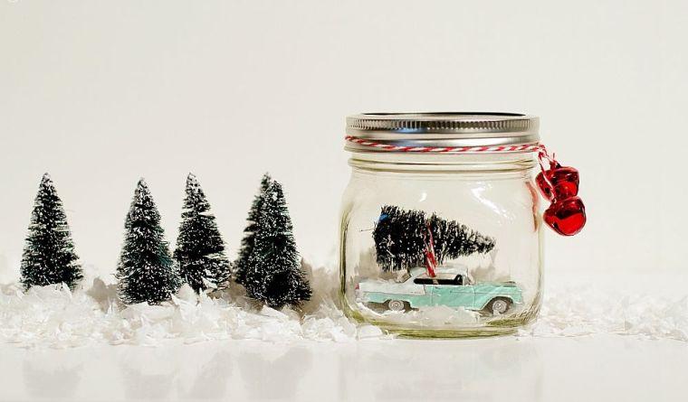 décoration-pots-verre-noel