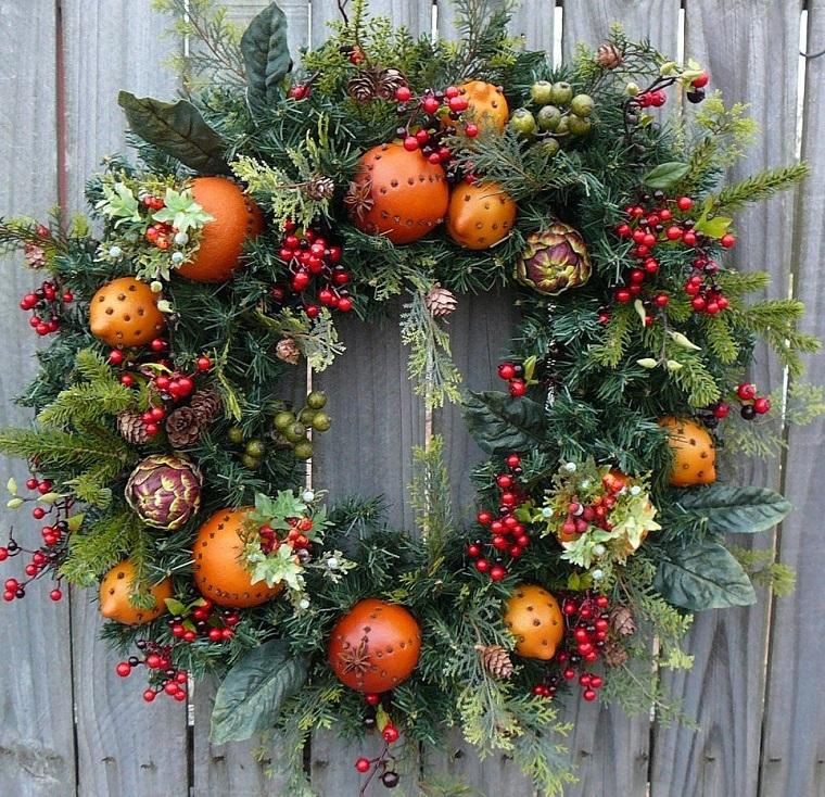 couronnes-fruits-décorés de Noël
