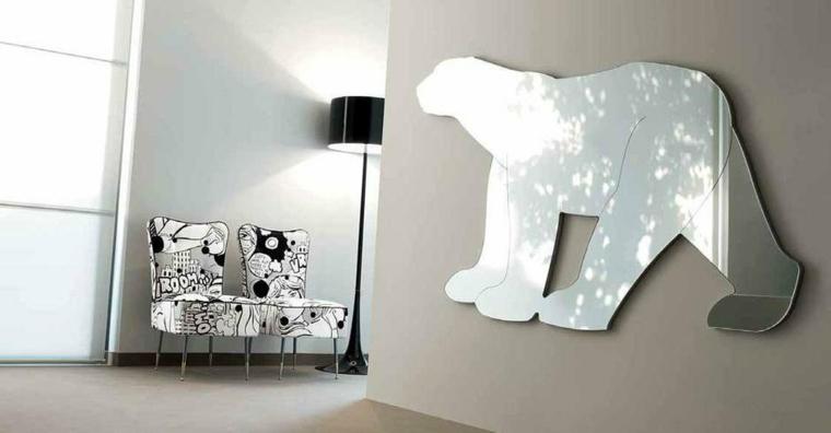 décoration avec des miroirs-formes