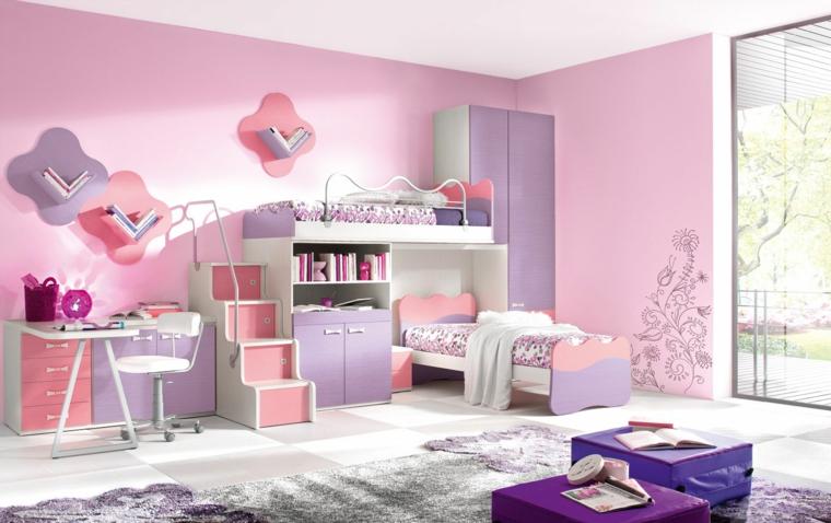 mobilier moderne en bois rose