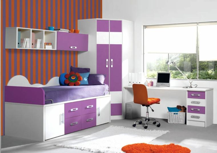 mobilier moderne-chambres-colorées
