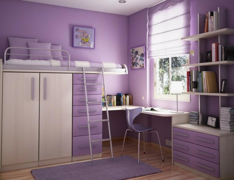 mobilier de chambre-juvénile-violet