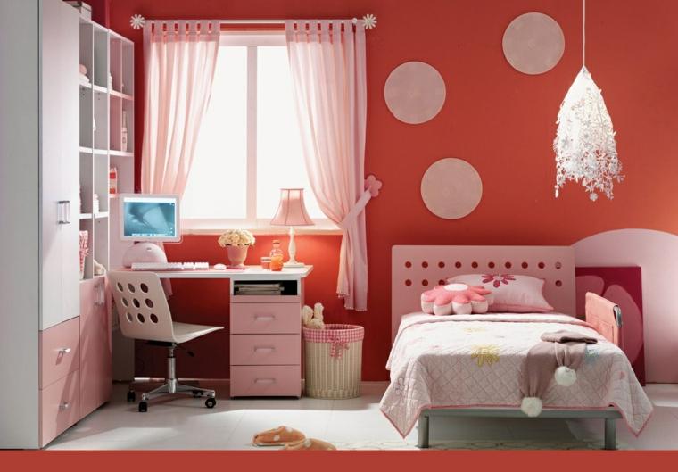 mobilier de chambre-juvénile-orange