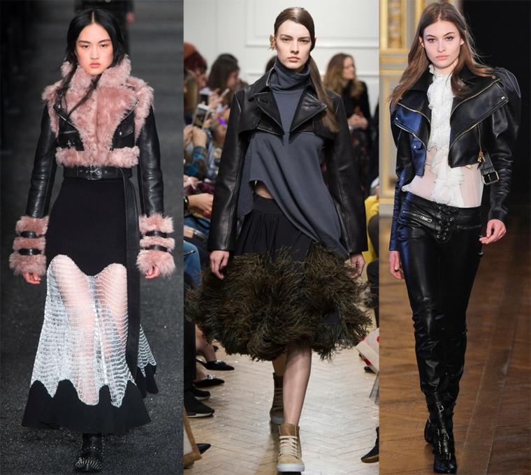 moda-2018-mujer-estilo-urbano-jaquetas-cuero-cortos