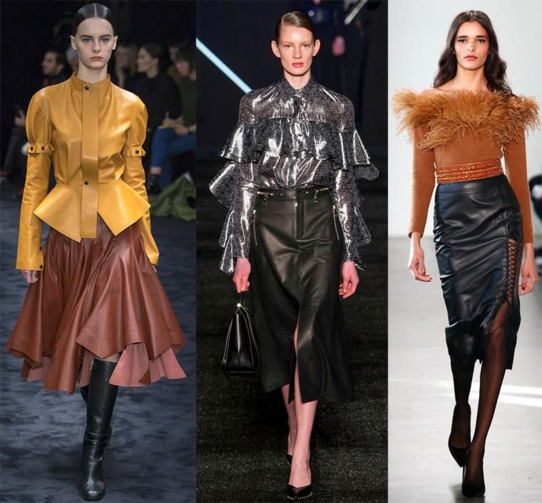 mode-automne-hiver-femme-jupes-cuir