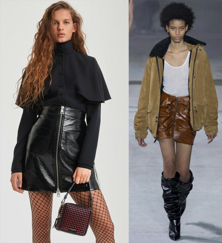 mode-automne-hiver-femmes-jupes-peau