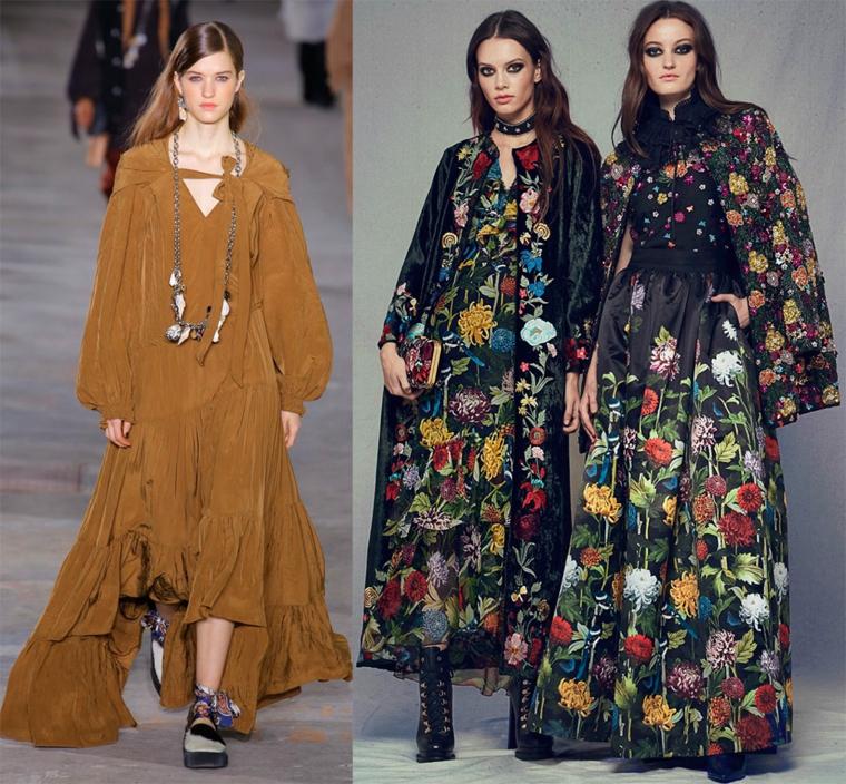 robes - imprimés floraux - automne