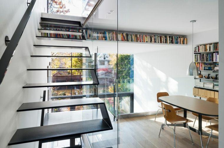 conception descaliers-intérieurs-éléments-noirs