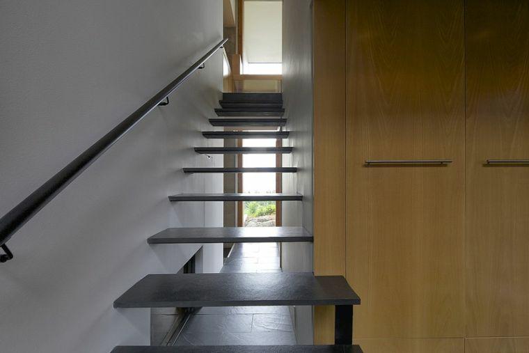 escalier en aluminium-couleur-noir