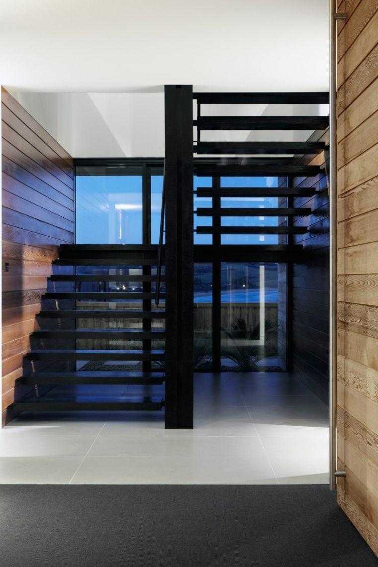 escalier intérieur bois-métal