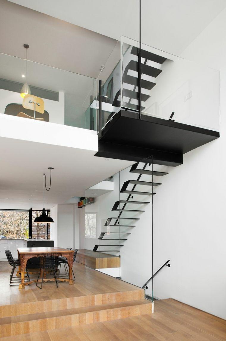 escaliers en bois pour intérieurs modernes