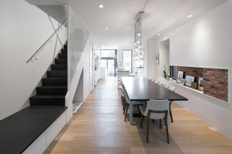 escaliers intérieurs-éléments-modernes-noirs