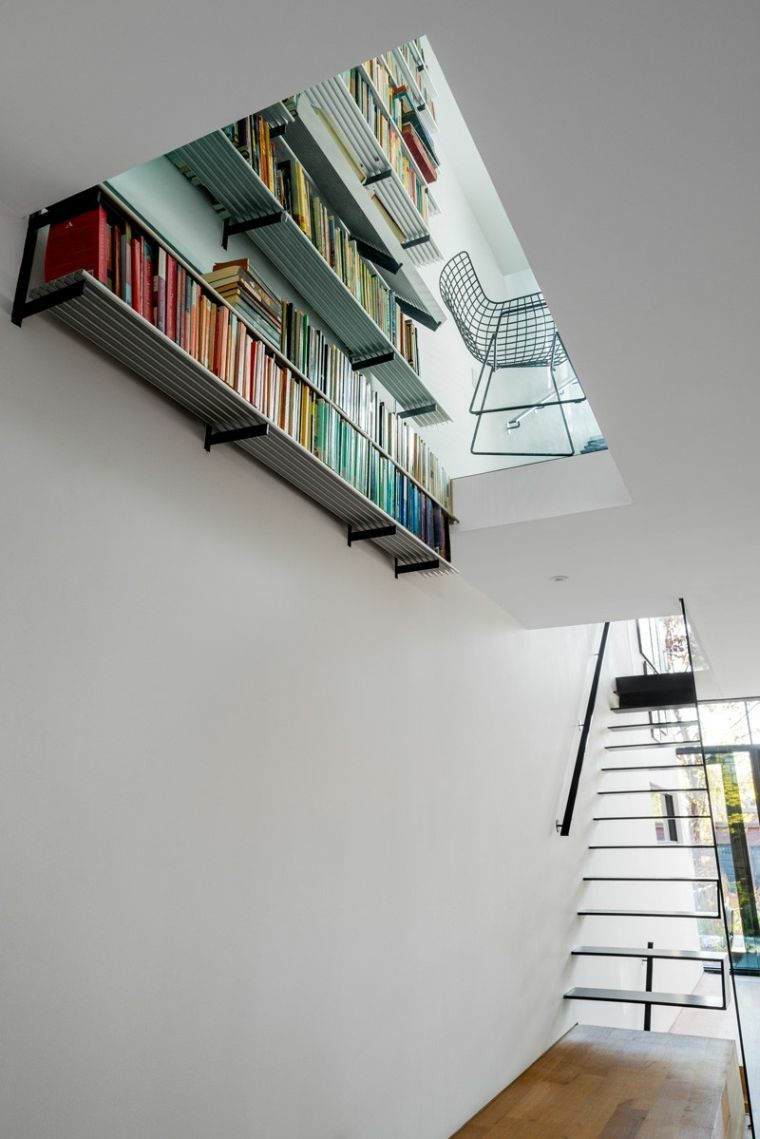 escalier intérieur-moderne-noir