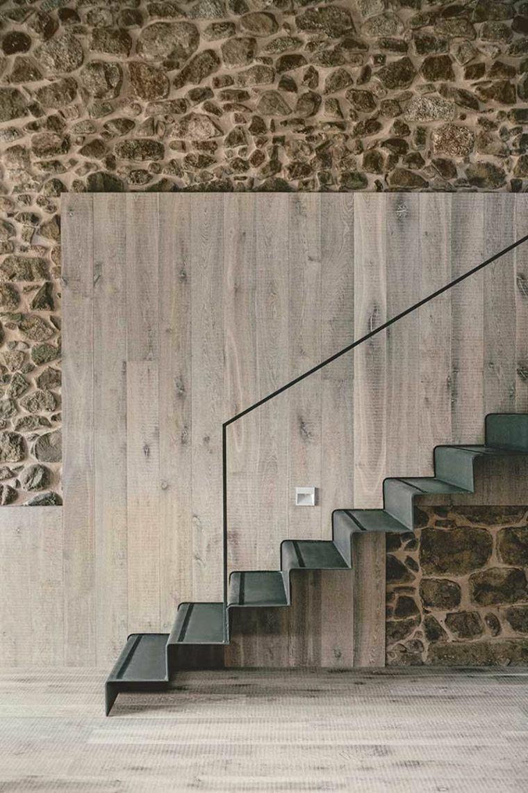 escaliers pour les maisons noires modernes