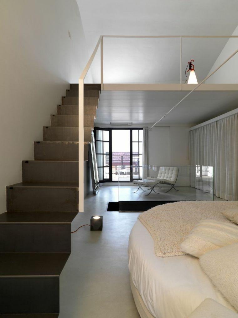 escaliers pour intérieurs-moderne-noir