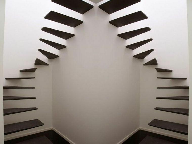 modèles descaliers flottants intérieurs
