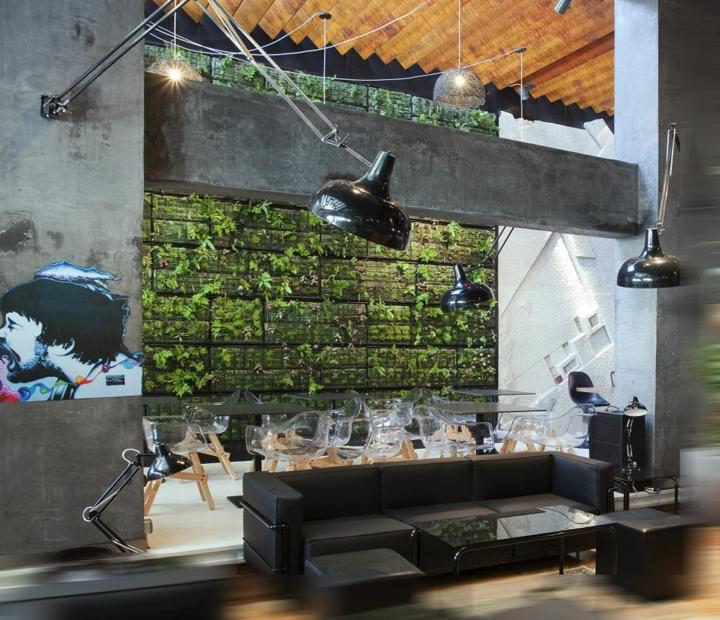 mur moderne espace vert