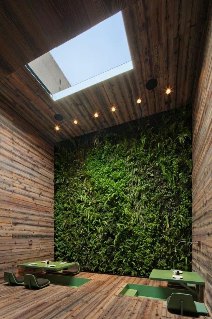 plancher de mur vert