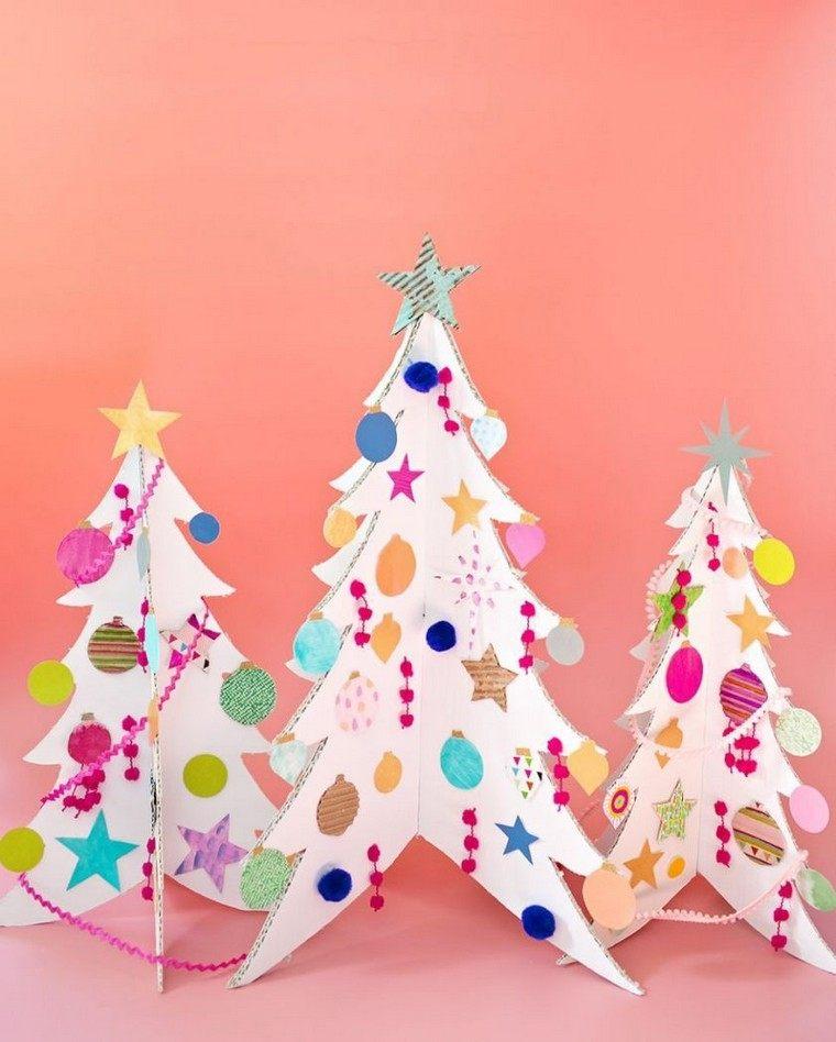 arbres-carton-artisanat-noel