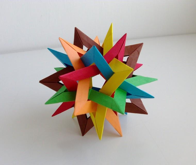 étoiles-décoratif-origami-coloré