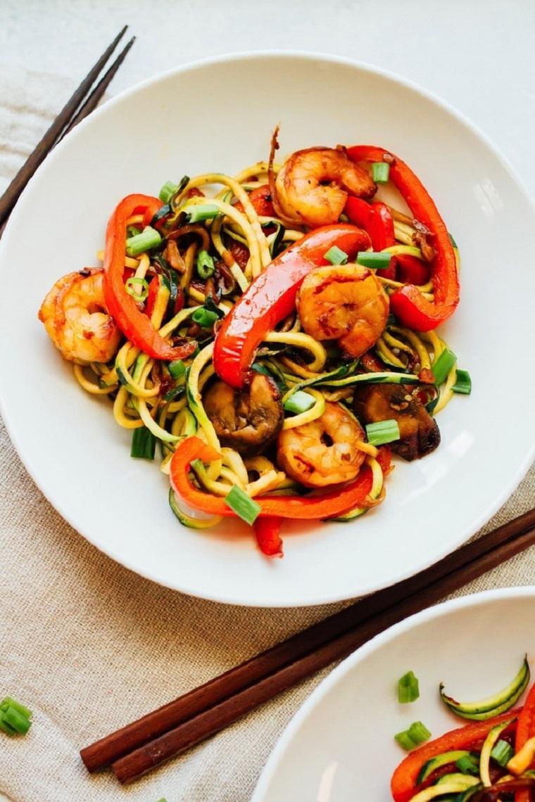 nouilles-courgettes-recettes-crevettes-riches