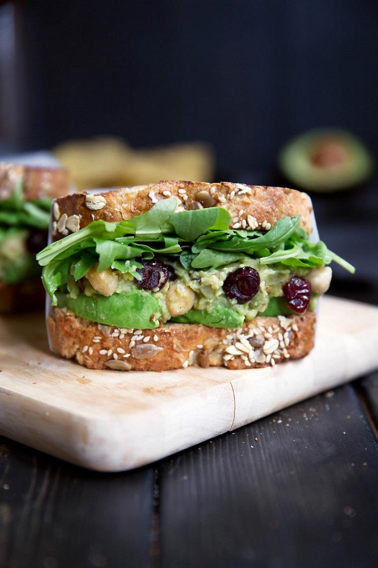 végétalien-riche-nourriture-Sandwiches-avocat