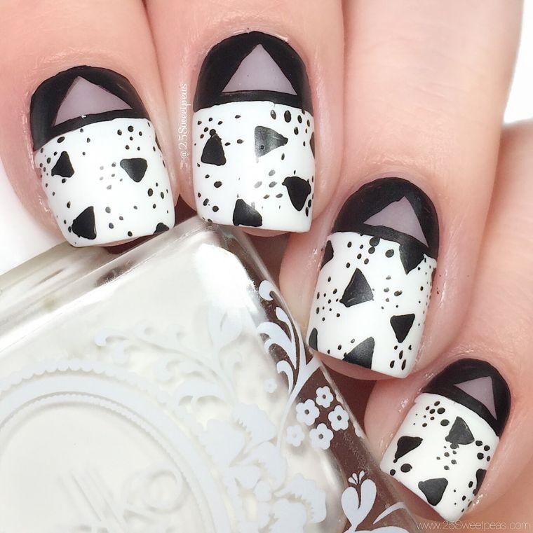 ongles peints-design-geometric-make-house