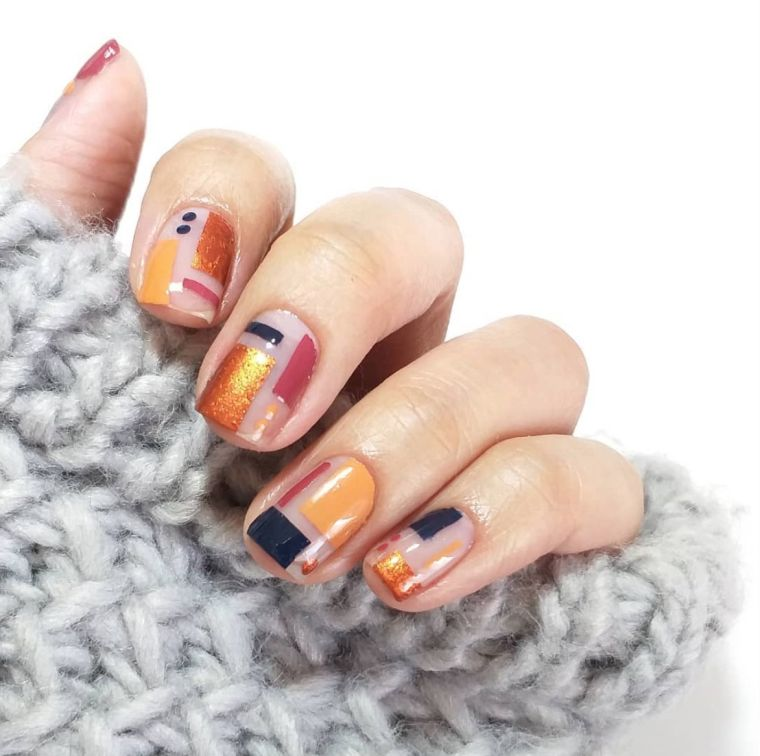 un peu-décoré-design-géométrique-motif-automne