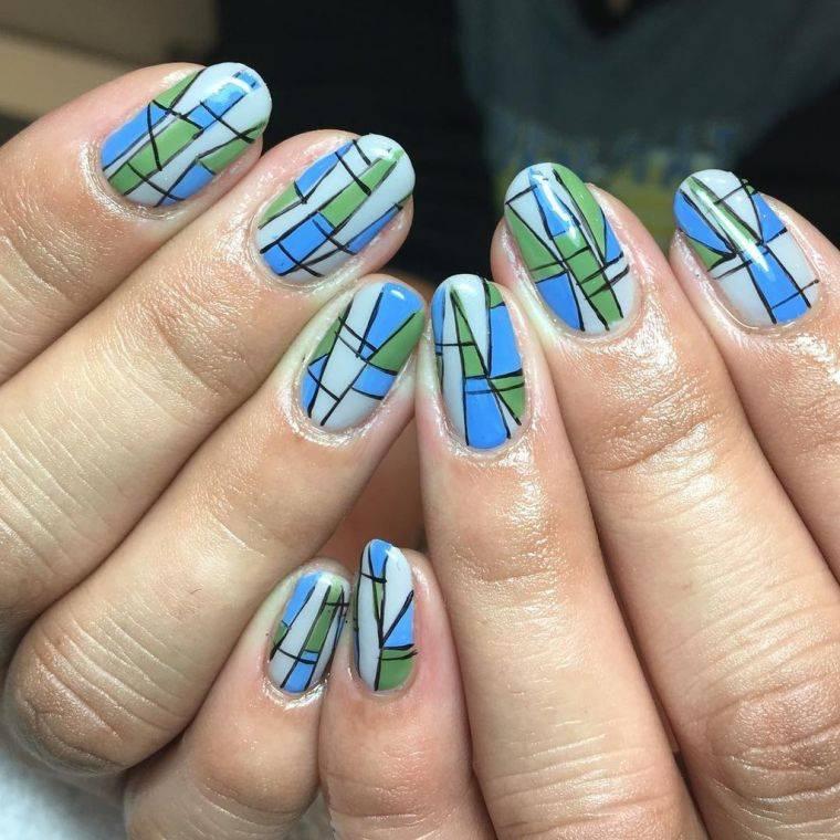 dessin-géométrique-bleu-vert