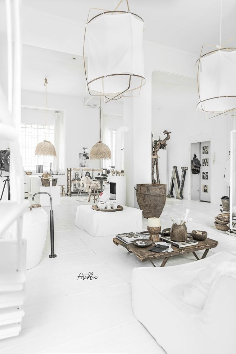 revêtements de sols intérieurs blancs