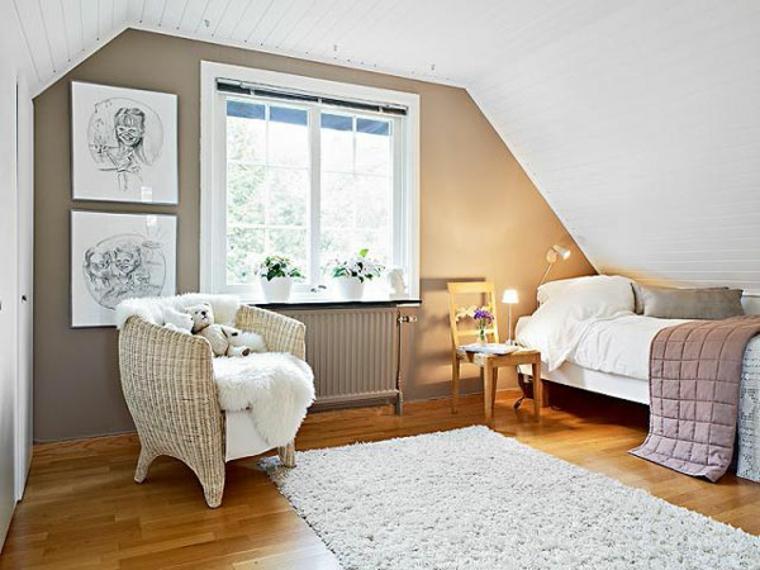 décorer les chambres mansardées