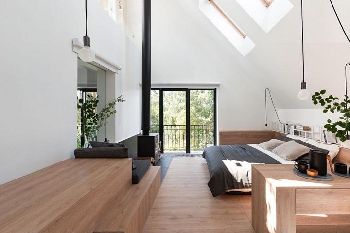 penthouse front moderne bois