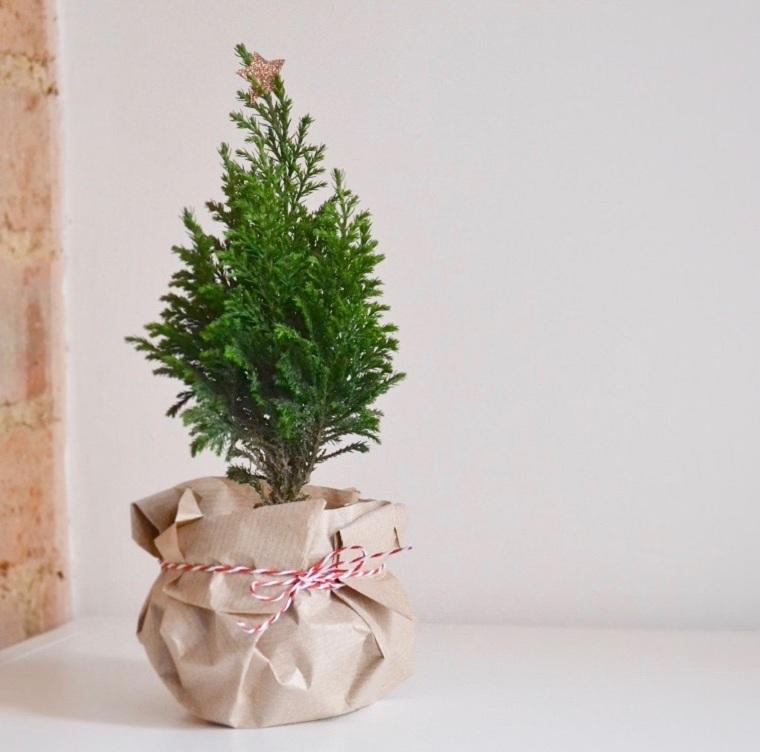 petit arbre arbre de noël-simple-décorer-maison-style