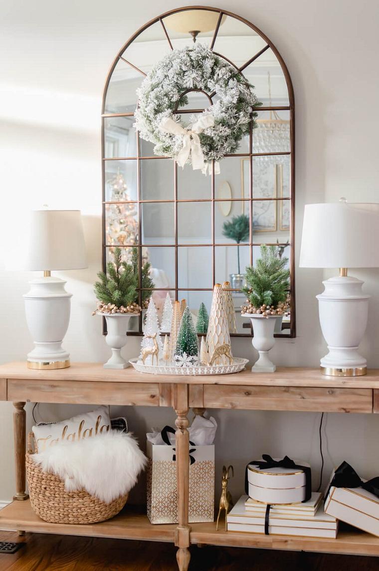 arbre-de-noel-petite-table-bois-miroir
