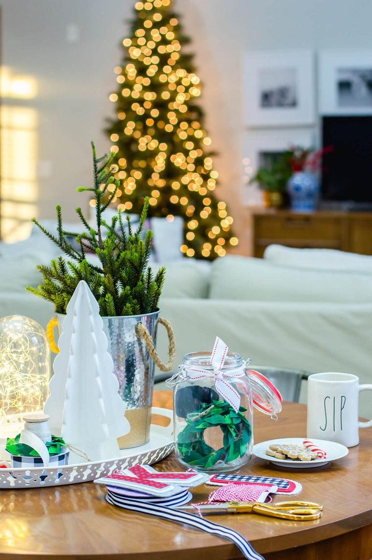 petites idées de décoration de style arbre de table