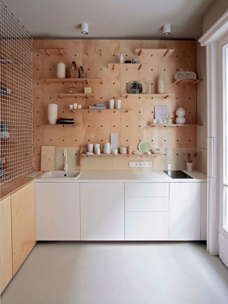 cuisines intégrées filles-décoration-murs