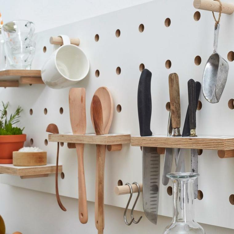 dessins de petites cuisines intégrales-mur