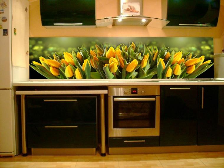 petites cuisines-décorées de fleurs