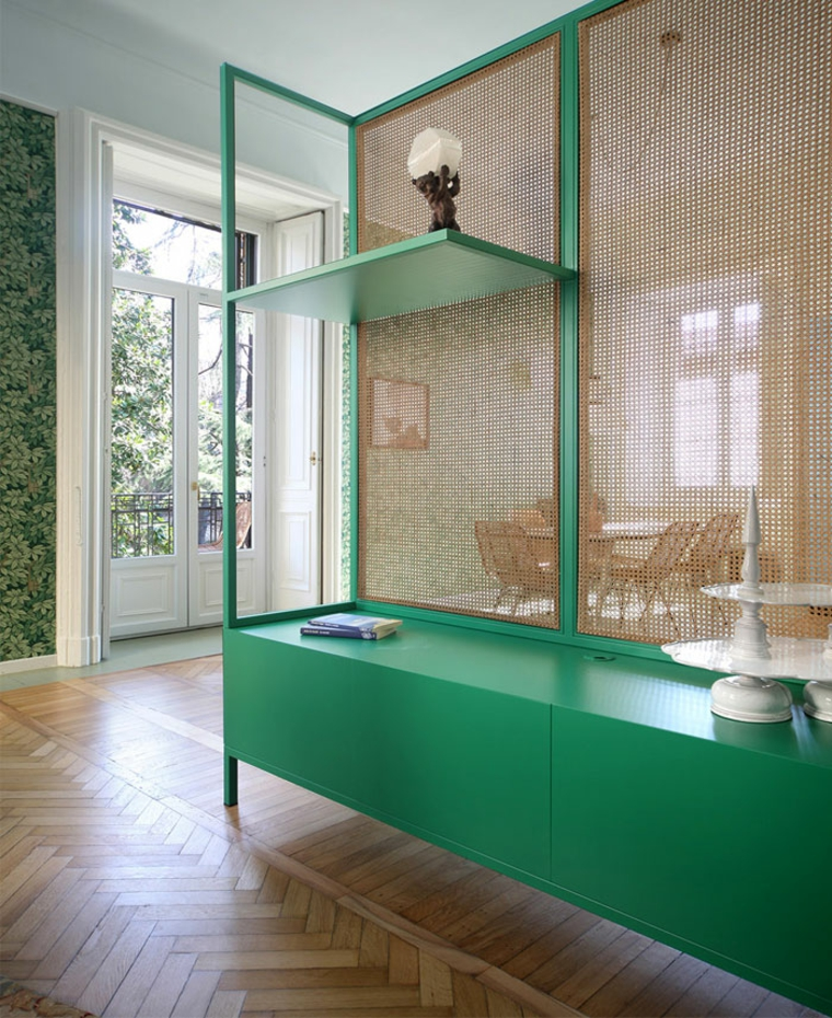 environnements séparateurs de meubles